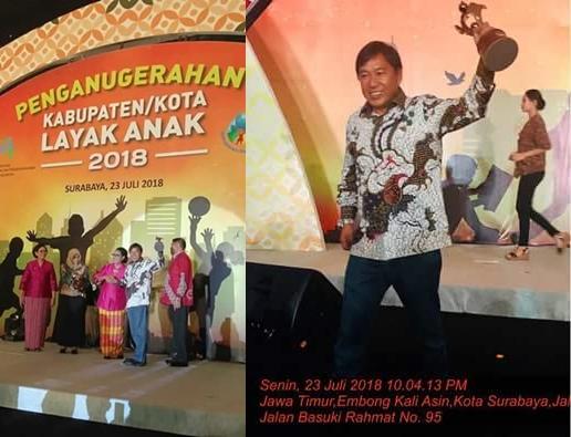 Kabupaten Mitra Raih Award Kabupaten Layak Anak