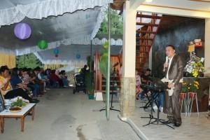 Wali Kota Tomohon Jimmy F Eman SE Ak memberikan sambutan