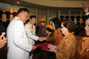 HUT RI ke-73, OD-SK Ramah Tamah dengan LVRI Sulut