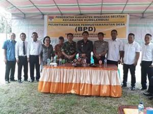 Anggota BPD Periode 2018-2024 Se-Kecamatan Kumelembuai Diresmikan