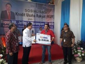 BRI Ratahan,Sosialisasikan KUR , Kartu Brizzi BRI, DR Jeffry Wurangian SE MSc