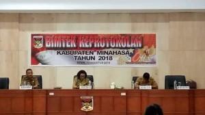 Humas dan Protokol Minahasa ,Bimtek Keprotokolan, Drs Moudy Pangerapan