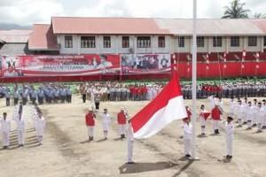Bupati James Sumendap Irup HUT RI ke-73 di Minahasa Tenggara