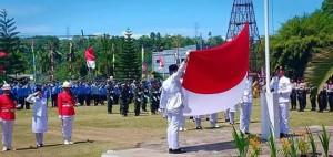 Bupati Minsel Irup di Upacara HUT Proklamasi RI ke 735