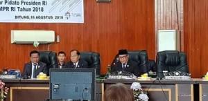 DPRD Kota Bitung Gelar Rapat Paripurna Istimewa Mendengar Pidato Presiden RI