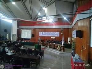 DPRD Kota Bitung Gelar Rapat Paripurna Istimewa Mendengar Pidato Presiden RI1