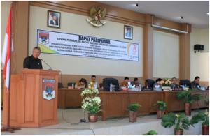DPRD Minsel Laksanakan Paripurna Penandatanganan Persetujuan Bersama KUPA dan PPAS-Perubahan Tahun Anggaran 2018