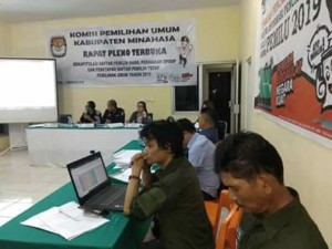 KPU Minahasa Tetapkan DPT Pemilu 2019 Sebanyak 258.283 Pemilih