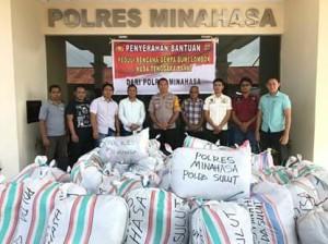 Gempa Lombok, Polres Minahasa, AKBP Christ Pusung SIK,