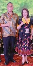 Wali Kota dan Ketua DPRD Tomohon sata menghadiri Rakornis TMMD ke-103