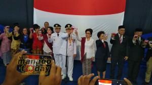 Toast Kenegaraan Pemkot Manado Berlangsung Meriah, Wawali Mor Irup Penurunan Bendera