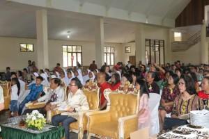 Jajaran Pemkot Tomohon yang menghadiri Perayaan membiara