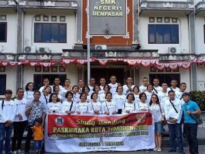 Rombongan Dispora dan Paskibraka Tomohon 2018 di SMKN 1 Denpasar