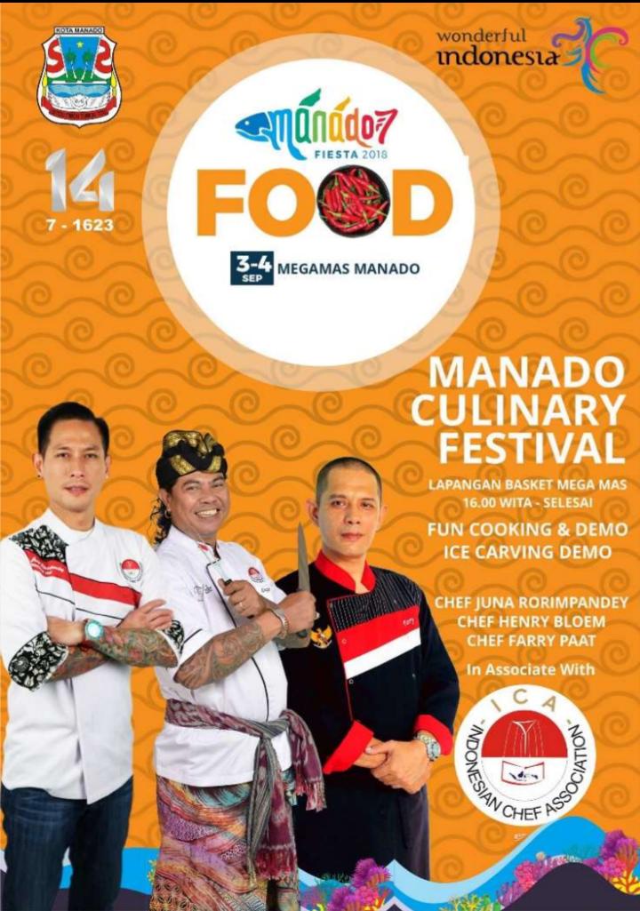 Festival Kuliner Manad,Manado Fiesta 2018, Chef Juna Rorimpandey,