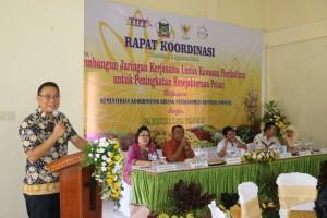 Wali Kota Tomohon saat Rapat Koordinasi