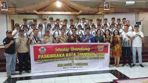 Rombongan Dispora Tomohon, Paskibraka, Instruktur dan Kadispora Bali
