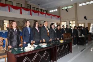 Pemkot Tomohon Ikut Rapat Paripurna Istimewa DPRD Mendengarkan Pidato Presiden