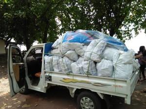 365 Karung Sampah Plastik Diangkat dari Teluk Manado