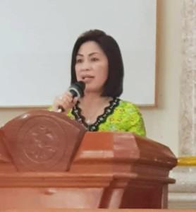Pnt Ir Miky Jl Wenur pada pelantikan Panitia Konsultasi Tahunan W/KI Sinode GMIM