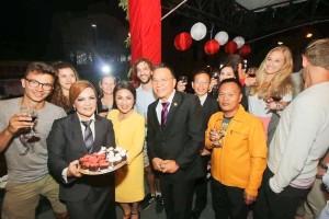 Toast Kenegaraan HUT ke-73 Proklamasi Kemerdekaan RI dihadiri turis asing