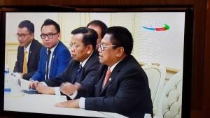 Senator SBANL bersama OSO dan delegasi Parlemen Indonesia lainnya