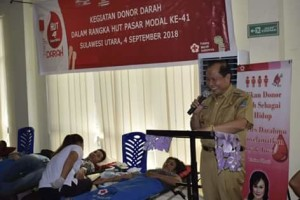 Gelar Donor Darah, Lomban Apresiasi BEI dan OJK