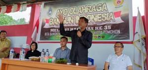 Kadispora Tomohon membuka kegiatan atas nama wali kota