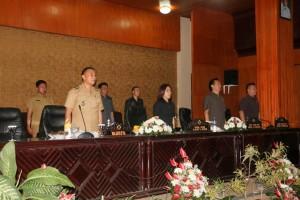 Wali Kota Tomohon menghadiri Rapat Paripurna Buka Tutup Masa Sidang