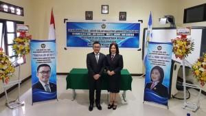 Senator I Stefanus BAN Liow MAP dan Ketua DPRD Tomohon Ir Miky JL Wenur MAP