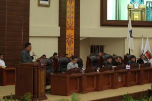Olly Hadiri Rapat Paripurna Pengambilan Keputusan APBD Perubahan T.A 2018