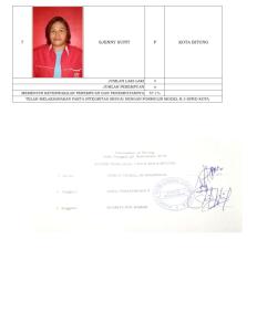 Pengumuman Daftar Calon Tetap Anggota DPRD Kota Bitung Pemilu Tahun 2019