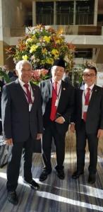 Senator SBANL bersama wakil Ketua MPR-RI dan wakil Ketua DPR-RI
