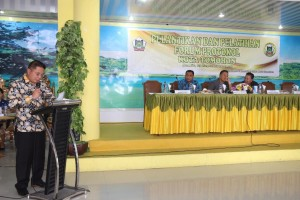 Kabag Humas dan Protokol Edvin Michael Joseph SSTP MSi membawakan laporan kegiatan