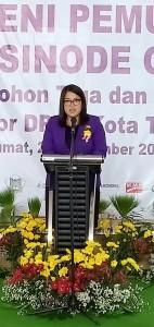 Ketua Komisi Pemuda Sinode GMIm Pnt dr Pricilia Tangel