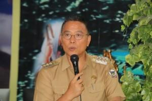 Wali Kota Tomohon Jimmy F Eman SE Ak saat membuka kegiatan