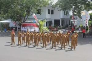 Tim PBB Manado Sabet Juara 1 Lomba Baris Berbaris se-Sulut