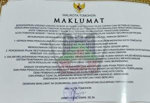 Maklumat Wali Kota Tomohon
