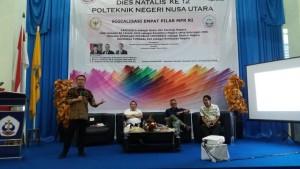 Ir Stefanus BAN Liow MAP  Sosialisasi Emjpat Pilar Kebangsaan di Politeknik Nusat Utara