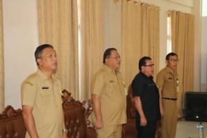 Jajaran Pemkot Tomohon menghadiri Rapat Paripurna