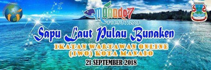 IWO Manado, Ikatan Wartawan Online, 'Sapu Laut' Pulau Bunaken, Agriyanto Reppy,  GS Vicky Lumentut