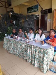 Toar Pandeirot SPd MM, Kompol Thonny Salawati SH, AKO Johny Rumate SSos, Jaclin Tirukan SPd dan pengurus Pencak Silat Kota Tomohon