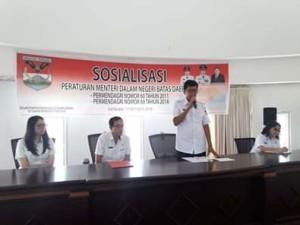 Permendagri nomor 60 tahun 2011 , Permendagri nomor 69 tahun 2016,  Batas Daerah,  Drs Jesaya Yoke Legi,