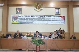 DPRD Minsel Setujui Ranperda Perubahan2