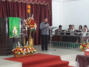 Wakili Gubernur Olly di HUT ke-131 GMIM Eben Haezer Panasen, Kumendong Ajak Jemaat Jangan Jadi Penyebar Hoax