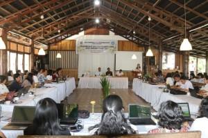 Kadisw pendidikan dan kebudayaan daerah Kota Tomohon membawakan laporan kegiatan