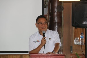 Wali Kota Jimmy F Eman E Ak membawakan sambutan