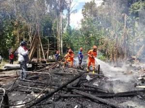 Sambuaga-Tulangow , kebakaran rumah langowan, desa toraget