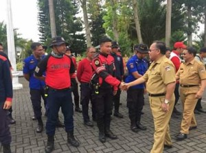 Sekda JRK Sambut Kepulangan Relawan Minahasa dari Sulteng