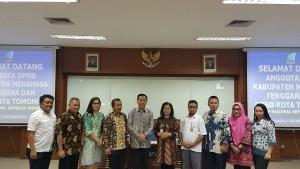 Konsultasi Pimpinan DPRD dan Kadis Perpustakaan dan Arsip Tomohon ke Arsip Nasional