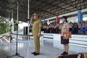 Lomban Hadiri Pembukaan Kemah Kwarcab Pramuka Bitung
